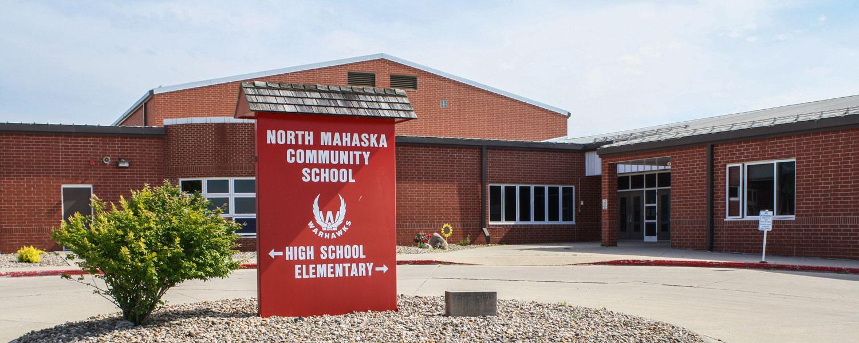 north mahaska community school sign