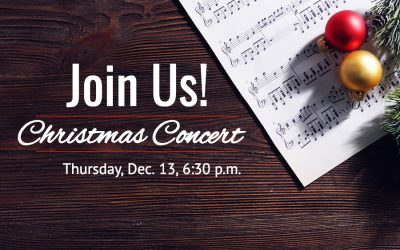 Christmas Concert, Thursday, Dec. 13 at 6:30
