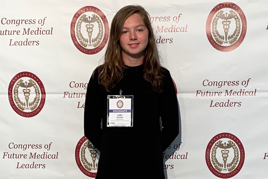 Freshman, Libby Groom, Attends The Congress of Future Medical Leaders Conference