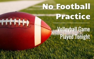 Junior High Football and Volleyball Updates
