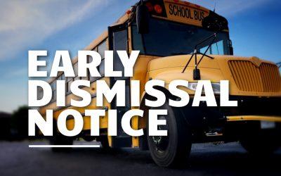Early Dismissal | Monday, Sept. 30