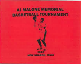 AJ Malone Memorial Basketball Tournament T-shirt Design