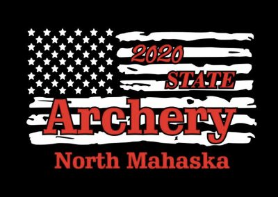 front of state archery t-shirt
