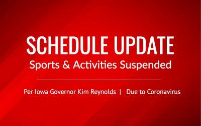 Iowa Sports Prohibited through April 30