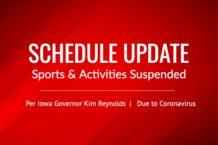 Iowa Sports Prohibited through April 30