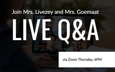 Live Q&A Thursday Night, April 2