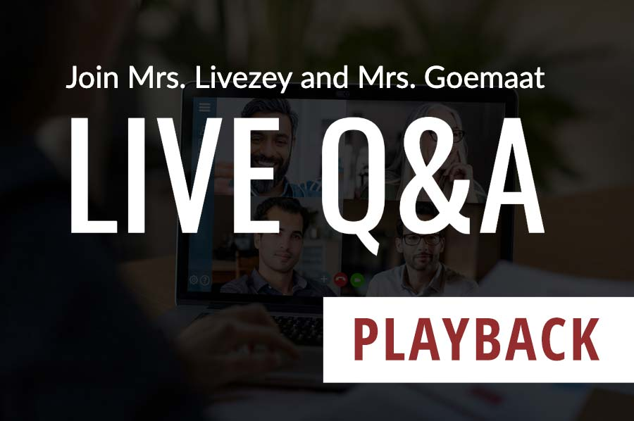 Q&A with Mrs. Livezey and Mrs.Goemaat