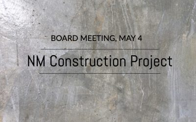 Board Meeting, May 4 at 6:00 p.m.