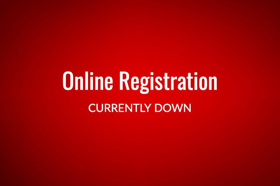 Online Registration Down