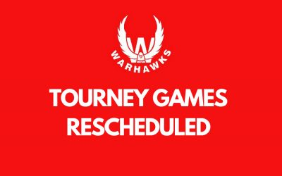 Changes Due to Weather: Tourney Games Rescheduled