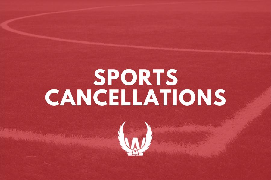 Sport Cancellations Update