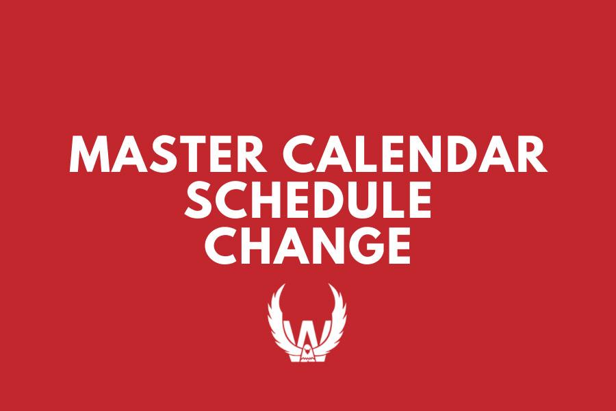 North Mahaska Master Calendar Schedule Change
