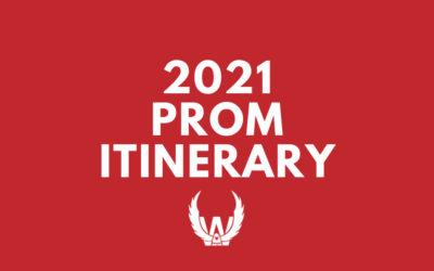 Itinerary for 2021 North Mahaska Prom